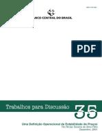 Uma Definição Operacional de Estabilidade de Preços - BACEN