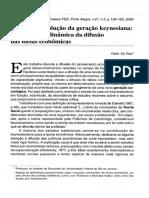 A tríplice Revolução da Geração Keynesiana - Notas sobre a dinâmica da difusão das ideiais econômicas
