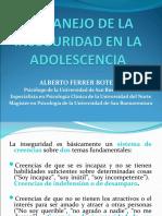 INSEGURIDAD EN LA ADOLESCENCIA