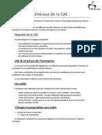 Principes Généraux de La CAE
