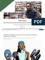 AFROFUTURISMO Ensaios sobre narrativas, denições,