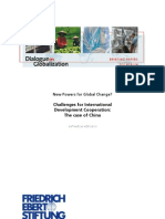 Challenges for International Development Cooperation - The Case of China