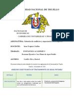 CASO PLANTA DE AGUA POTABLE MARISOL CASTILLO