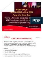 Pump Life Cycle Cost 2 data of pumps