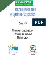 Memoire_caracteristique_Hierarchie_des_memoires_Memoire_cache