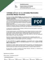 GACETILLA Jornadas Néstor Kirchner florecen mil flores, pintamos mil escuelas (1)