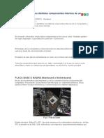 Identificación de los distintos componentes internos de un Computador