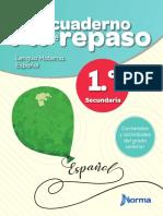 Cuaderno de repaso 1║ Espanol_Sec_Alumno