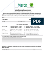 Pipeline Training Request Form March 2011