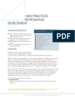 Models and Best Practices in Teacher Professional Development