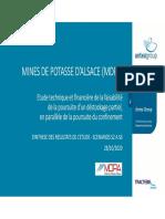 Etude sur les Mines de potasse d'Alsace