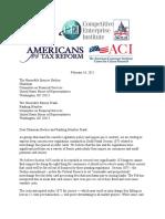Coalition Letter Against Debit Card Interchange Price Controls Benefiting Big Retailers