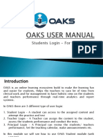 OAKS MANUAL - Student Login
