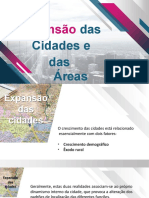 Expansão das Cidades e das Áreas Urbanas