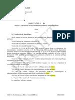 Projet Ordonnance PSC Fonctionnaires 2021