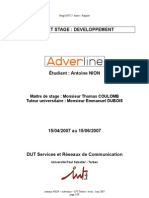 Rapport de stage - Adverline