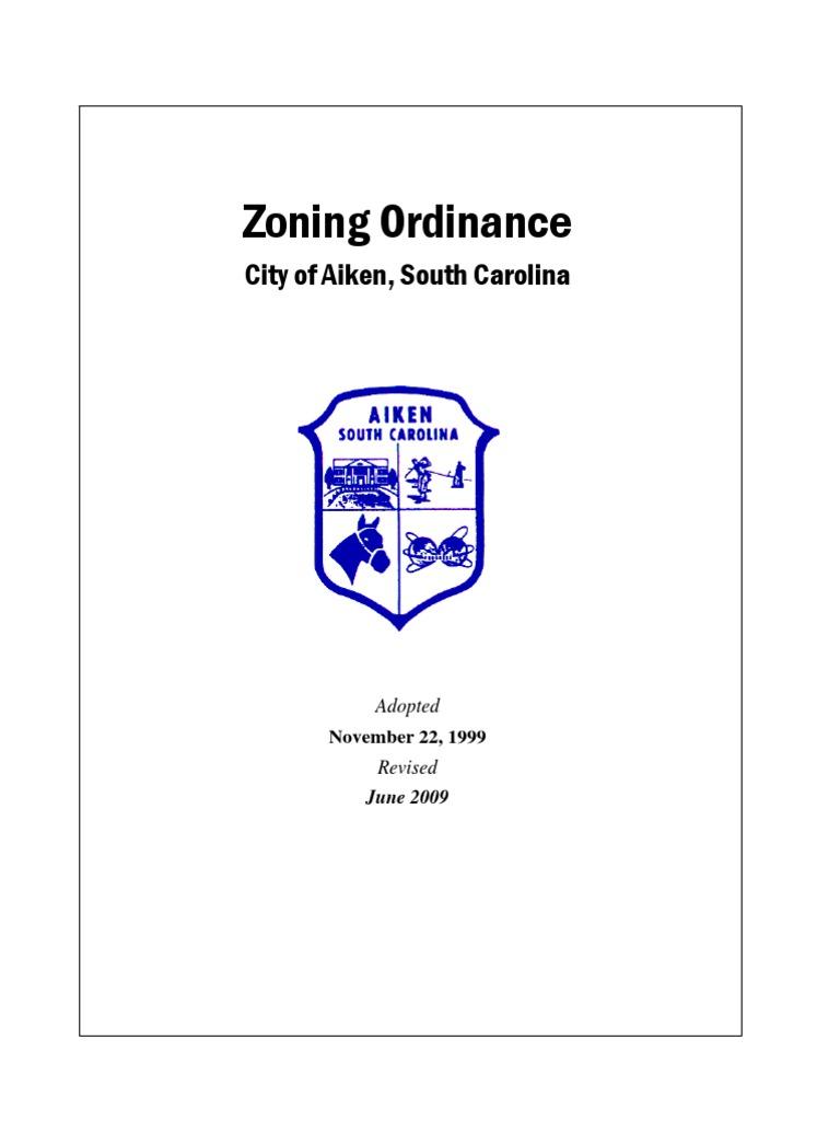 Elegant City Of Aiken, SC Zoning Ordinance | Zoning | Parking