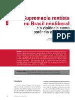 Rodrigo Castelo- Supremacia rentista no Brasil neoliberal e a violencia como potencia economica -Universidade e sociedade