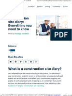 Construction site diary_ Everything you need to know - LetsBuild