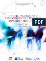 Understanding and Responding to Crime and Disorder Hot Spots