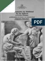 Bancalari, Alejandro - El Juramento de Fidelidad de Los Italicos a Livio Druso