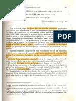 Mazzei, Leonardo - Conformación de Sectores