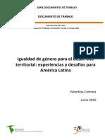 Cortinez2016 Igualdad de Genero Para El Desarrollo Territorial