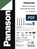 blu-ray panasonic sc-bt735
