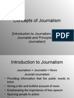 Concepts of Journalism