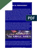 QUE ES EL FEMINICIDIO