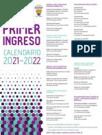 Calendario Unam Primer Ingreso 2021-2022