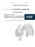 Evaluation certificative - CE1D - 2010 - franA§ais - questionnaires et portefeuille de documents (ressource 10106)