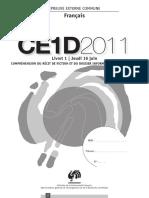 Evaluation certificative - CE1D - 2011 - franA§ais - questionnaires et portefeuille de documents (ressource 10107)