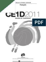 Evaluation certificative - CE1D - 2011 - FranA§ais - Dossier de l enseignant (ressource 8199)