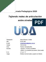 García Romero, Cristian. Ponencia Jornada pedagógica tejiendo redes de articulación entre niveles