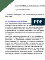 Informe político - 31ª conferência nacional PCO (21_11_2020) [transcrição]