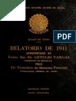 Relatório Do Estado Do Ceará - 1941