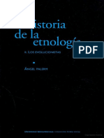 HISTORIA DE LA ESNOLOGIA. VOL II LOS EVOLUCIONISTAS (1)
