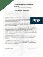 Comunicato Sindacale 16-02-2011