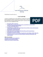 Lean Leadership Executive Series of Interviews