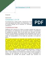 COMENTARIO DE COLOCENSE 1N15