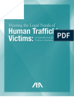Meeting the Legal Needs of Human Trafficking Victims