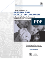 Federal Resources on Missing and Exploited Children
