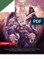 5th Edition D&D x Final Fantasy XIV - Classes and Races Compendium - GM Binder