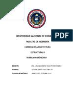 TRABAJO AUTONOMO DE ESTRUCTURAS I