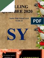 science spelling bee