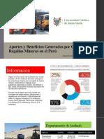 Aportes y Beneficios Generados por Canon y Regalias Mineras en el Perú.pptx