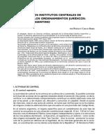 Barra - El papel de los institutos centrales de control en los ordenamientos jurídicos. El modelo argentino
