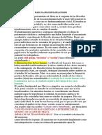 MARX Y LA FILOSOFIA DE LA PRAXIS