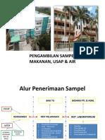 Pengambilan Sampel lingkungan (Temu Pelanggan BBTKL PP 2019)